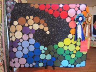 Best of Show & 1st Place Art Quilt: Gerry Burr