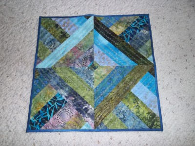 #13 - Ocean Batik Table Topper