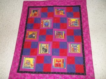 SOLD! #15 - Laurel Burch Cat Quilt