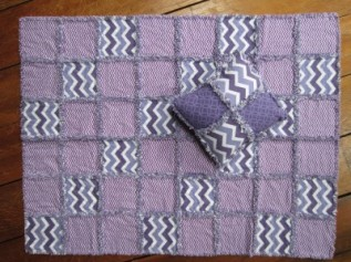 #17 - Purple Rag Quilt & Pillow