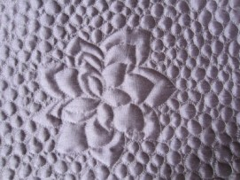 #16 - Purple Satin Wall Hanging Close Up