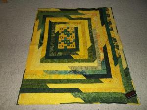 University of Oregon Duck Inspired Throw Quilt