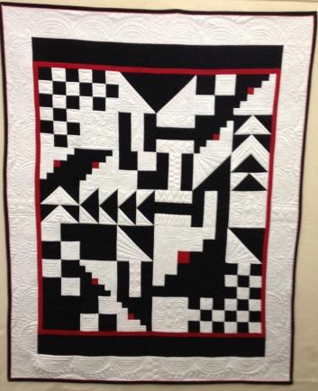 """#6:""""Escher-esk"""" quilt"""