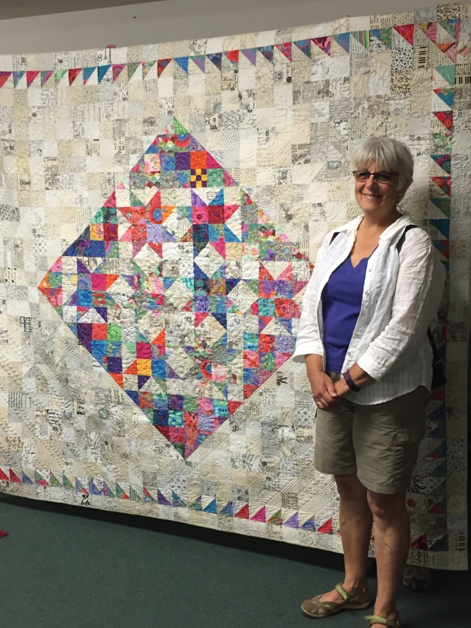 2016 BBJ Raffle Quilt Winner Kitty Murdoch of Eugene