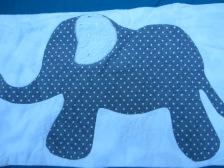 #9 - Closeup Elephant Baby Quilt